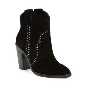 Joie Monte Studded Black Suede Booties Size 11/41